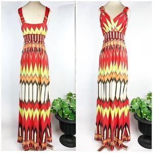 eci New York, Sunburst Multicolor Maxi Beach Dress